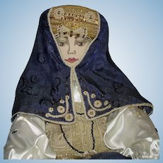 "28"" Russian Alexandra Artist Cloth Doll Moscow Sasha Kukinova 1980s-on"