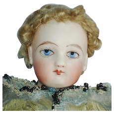 """10"""" Francois Gaultier Painted Eye French Fashion Doll 1860-on"""
