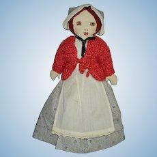 "11"" Quaker Dressed Cloth Doll Vintage"