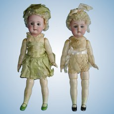 """Flapper Bisque Head Sister ABG 9.5"""" Dolls Germany 1910-on"""