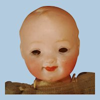 """8 1/4"""" Character Bisque Head Baby Doll Germany 1886-on"""