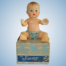 """8"""" Jimmy Baby Doll Vogue 1958 in Correct Box with Hang Tag"""