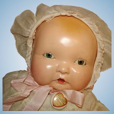 "15.5"" Lambkins Composition Baby Doll Effanbee 1930s"