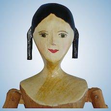 "9"" House of 7 Gables Peg Wooden Doll PK Shillaber 1950s"
