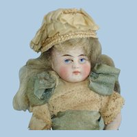 """Kling 4"""" Jointed  All Bisque Mignonette Doll Germany 1870-on"""