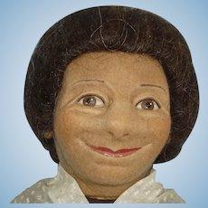 "R. John Wright 17"" Emma Felt Cloth Character Doll 1979"
