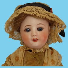 """Uncommon 7.5"""" Unis 60 Bisque Head Doll on Jointed Composition Body France 1922-33"""