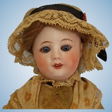 "Uncommon 7.5"" Unis 60 Bisque Head Doll on Jointed Composition Body France 1922-33"