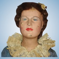 "15 1/2"" WPA Late Victorian Woman Doll Figure USA 1935-42"