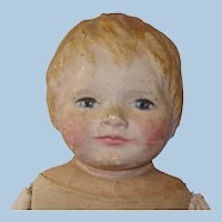 """23"""" Dorothy Klinghorn Wilson Painted Cloth Doll c1910 Rare & Well Loved"""