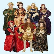 Ilse & Richard Ottenberg Henry VIII & 6 Wives Dolls England 1950s