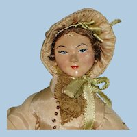 Early Artist 1850's Fashionable Lady Doll by Luscher