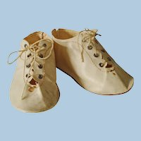 Oilcloth Shoes & Stockings for Larger Antique Doll