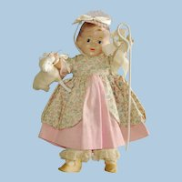 "Arranbee 9"" Little Bo Peep Composition Storybook Doll 1930s"