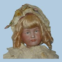 "8.5"" K*R 114 Gretchen Bisque Head Doll Germany 1909-on"