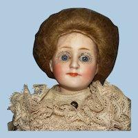 """9.5"""" Kestner 172 Gibson Girl Bisque Shoulder Head Doll Germany c1910"""