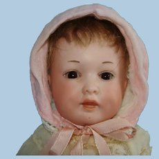 """8.5"""" Armand Marseille 590 Character Bisque Head Baby Doll Germany 1910-on"""