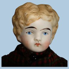 """Antique 13"""" Untinted Bisque #136 Shoulder Head Doll Germany  1860s-on"""