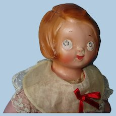 """13"""" Stamped Louis Amberg Googly Composition Doll USA 1911"""
