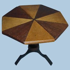 Vintage Dollhouse Size Wooden Table For Fashion Doll
