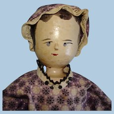 """11.5"""" Peg Penny Wooden Doll Germany"""