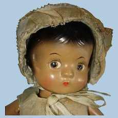 """9"""" AA Black Patsyette All Original Composition Doll Effanbee 1931-on"""