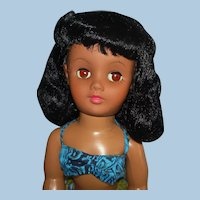 "Vintage 17"" Vinyl Head HP Walker Miss Hawaii Hula Doll Lanakila Crafts 1950s-60s"