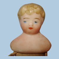 """4"""" Child Dollhouse Bisque Shoulder Head Doll Germany 1880s-on"""