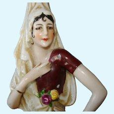 Early China Senorita Half Doll Figural Fasold & Stauch Germany 1920s