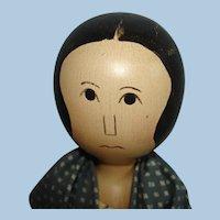 Edna Oar Young Shadowdancer Wooden Peg Style Folk Art Doll 1980s USA