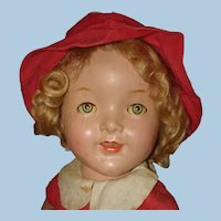 """19"""" Composition Girl Doll in Box USA 1930s to Restore"""