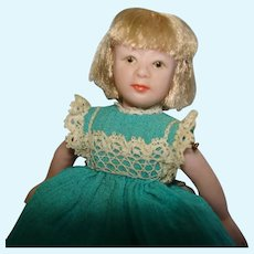 "Artist Eunice Tuttle 3.5"" Jointed Porcelain Dollhouse Doll 1960s-on USA"