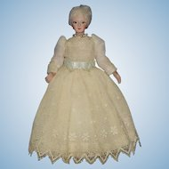 Artist Dollhoue Fashionable Lady Doll with Socket Head & Bisque Arms