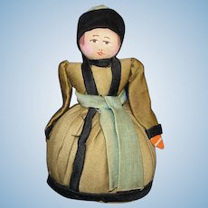 Early Russian Pin Cushion Cloth Doll 1930s-on