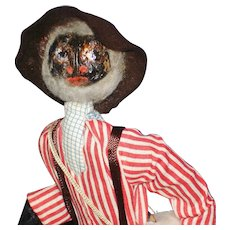 Loveleigh Novelties Old Black Joe Character Nut Doll American Folk Art