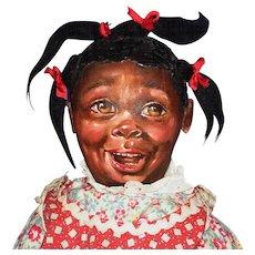 Barbara Buysse Bysse Black Cloth Johnna Art Child Doll 1987 - Red Tag Sale Item