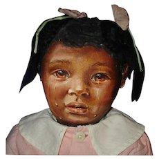 Barbara Buysse Black Cloth Johnna Art Doll 1987