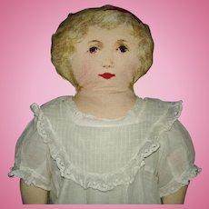 """Vintage 18"""" Printed Rag Doll By The Yard"""