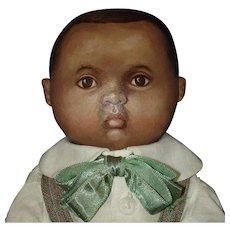 Early Susan Fosnot Otis Black Cloth Artist Doll 2005