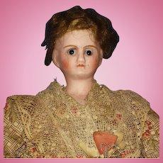 "9"" French Verlingue Bisque Doll c1915"