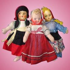 Vintage Mask Face Cloth Dolls 1930s-on