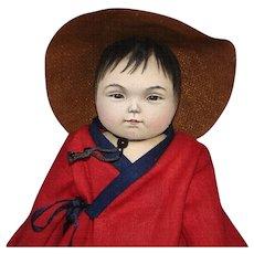 "Susan Fosnot Akiko 8"" Asian Cloth Doll OOAK! 2011"