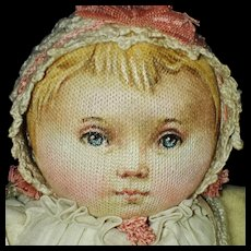 """Early Susan Fosnot Elsa 9.5"""" Cloth Baby Doll with Tag 2003 Unusual!"""