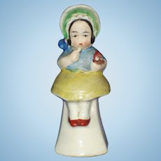 Kate Greenaway Ceramic Card Holder Figure Germany Vintage