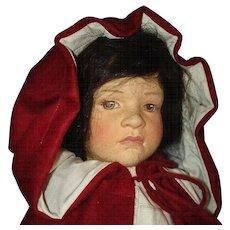 R John Wright Little Red Riding Hood Cloth Doll 1988