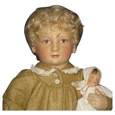 R John Wright Lindsay Babes in Toyland Series II Cloth Doll 1984-85