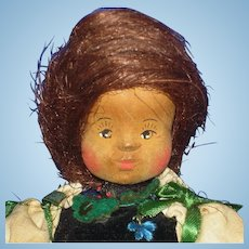 Old German Wooden Doll in Fehrle Style 1930s-on Artist