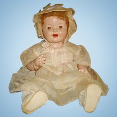 "19"" Lovums Phongraph Composition Baby Doll Effanbee 1928-on"