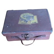 Candy container brown suitcase