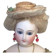 Beautiful little straw boater for French poupee doll